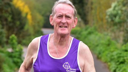 Len Cousens from Lowestoft is set to run his 37th consecutive London Marathon.PHOTO: Nick Butcher