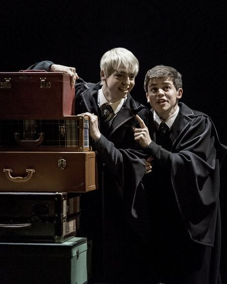 Harry Potter and the Cursed Child at the Palace Theatre in London. Photo: Manuel Harlan. L-R Anthon