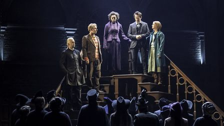 Harry Potter and the Cursed Child at the Palace Theatre in London. Photo: Manuel Harlan. L-R Alex P