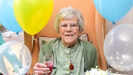 Cavell Court care home celebrates the 100th birthday of popular resident, Marjorie King.