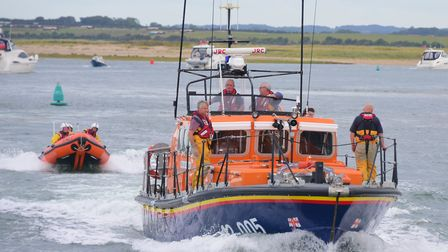 Wells lifeboat and inshore lifeboat. Picture by SIMON FINLAY.