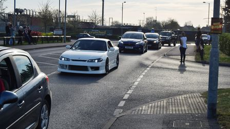 Hundreds of people gathered at Morrisons car park in Diss to pay their respects to Kyle Warren, Bill