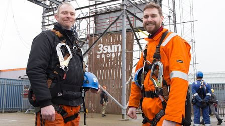 Training at the 3sun Academy. Carl Hills, left, and Bryan Marshall, both made redundant from their j