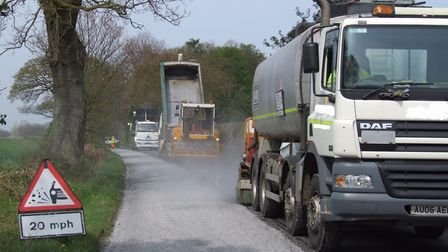 Surface dressing works are planned for Norfolk roads. Picture: Courtesy of Norfolk County Council