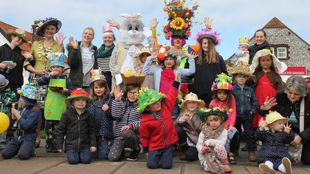 Last year's East bonnet competition entrants line up for a photo. Picture: KAREN BETHELL