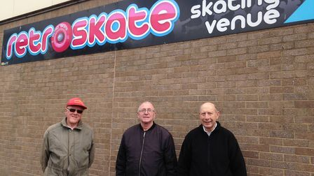 Pete Lewis, 71, from Caister, Trevor Mallins, 66, from Great Yarmouth and David Parsley, 75, from Gr