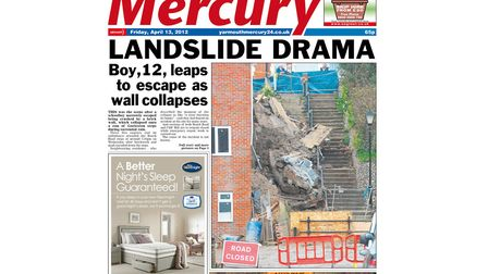 The front page of the Great Yarmouth Mercury from Friday, April 13 2012. Photo: Archant Library