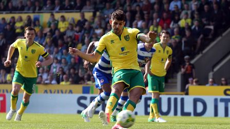 Nelson Oliveira scores City's early penalty against Reading. Picture by Paul Chesterton/Focus Images