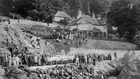 The opening of Babbacombe Pier in August, 1890