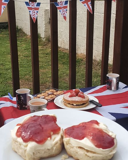 VE Day cream tea at the Culley's in First Avenue