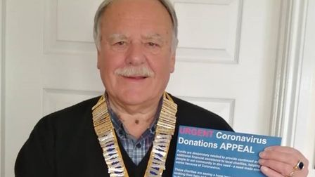 Preston Rotary Club president Peter Burcher launches the special charity appeal