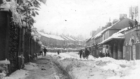 Abbey Road after the blizzard of 1891 Picture: Torquay Museum