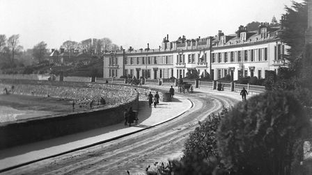 Abbey Crescent from Rock Walk in April 1890 Picture: Torquay Museum