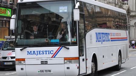 Majestic Holidays tour coach Picture: Alan Sansbury - Creative Commons Attribution 2.0