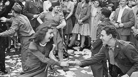 VE Day celebrations in London on May 8, 1945 Picture: Imperial War Museum