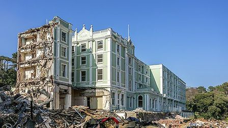 Demolition work at the Palace Hotel in Torquay