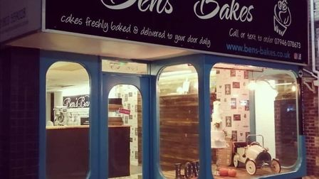 Ben's Bakes shop, currently closed, in Hyde Road, Paignton