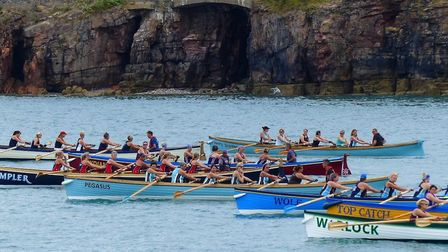 A heat in the 2019 CPGA Veterans' Championship hosted by Brixham Gig Club Photo: Blackstone Photos