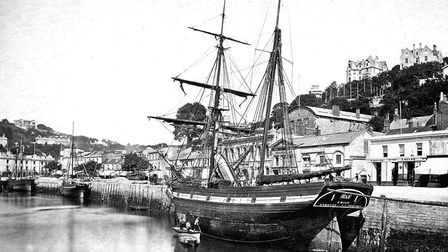The sailing ship Emily moored at Victoria Parade, c.1880 (PR6622)