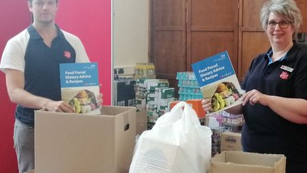 The dietary advice and recipes booklets are being delivered with food parcels