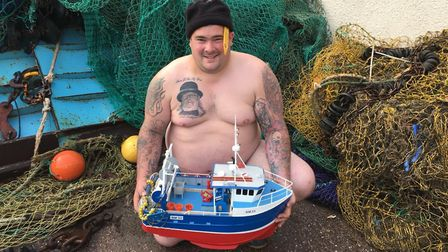Darren Passmore was also Mr February in the local charity calendar for the Fishermen's Mission