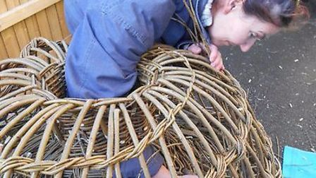 Traditional lobster pot making