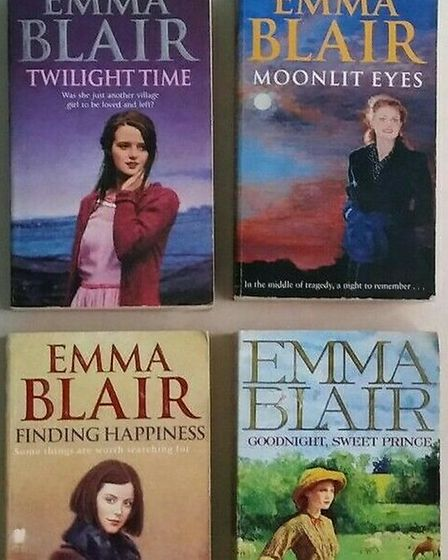 Some of Iain's novels, penned under the name Emma Blair
