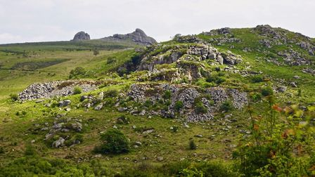 Haytor and an old working granite mine