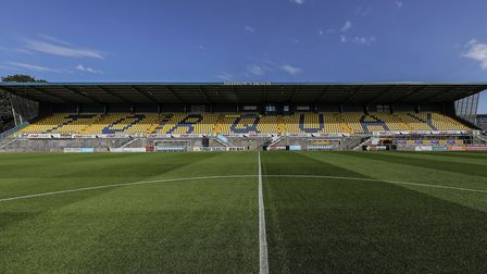 Torquay United's stadium at Plainmoor Photo: Phil Mingo/PPAUK