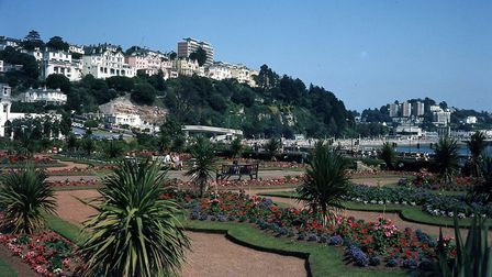 The Italian Gardens on Torquay seafront in the 1980s (PR16830)