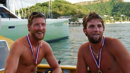 Ben Gaffney (left) and Orlando Rogers (right) in Antigua