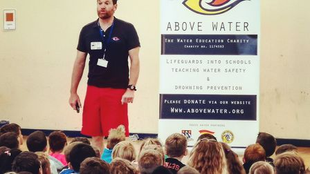 Brendon Prince delivering Above Water training in a school