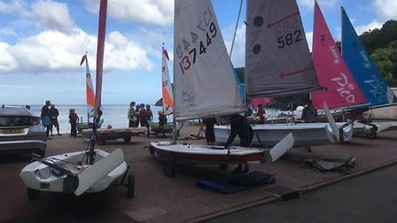 Many of the 300 members of Babbcombe Corinthian Sailing Club take part in the water-based activities