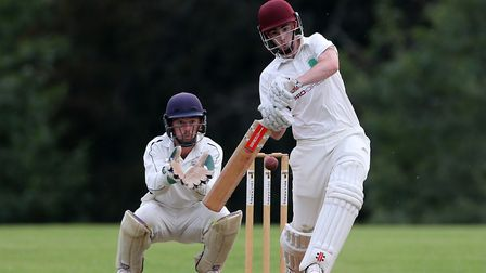 Jack Bell of Barton CC plays a shot during the Devon Cricket League m last summer Photo: Cameron Ger