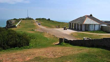 The iconic Guardhouse Caf� perched atop Berry Head in Brixham