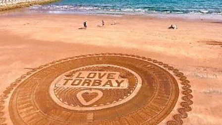 Torquay seafront with a nice welcome
