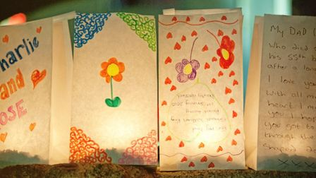 Candle bags for the Childrens' Hospice South West Memories event