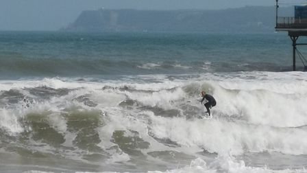 Surfers at Paignton will use the RIP on the pier to get 'outback'