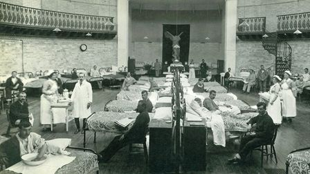 A ward at the American Women�s War Hospital at Oldway Mansion, Paignton, where they treated US servi