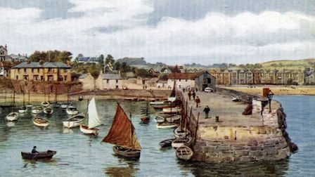 A Salmon postcard showing Paignton Harbour (PR24954)
