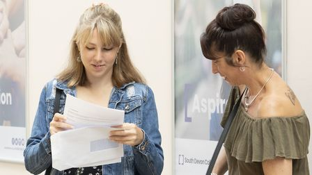 A-level results day at South Devon College