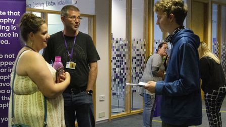 GCSE results day at South Devon High School