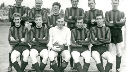 Collaton United 1966 From left, back row: Brian Carter, Jock McCargow, Jackie Gray, George Loye, Ro