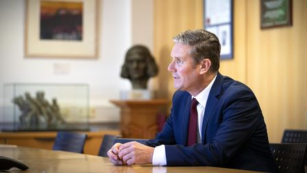 Labour leader Sir Keir Starmer during a visit to the University of Edinburgh School of Medicine.