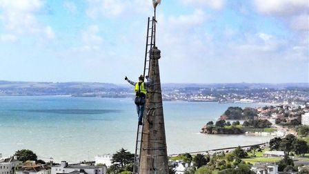 He's done it -vicar Sam Leach has made it to the top