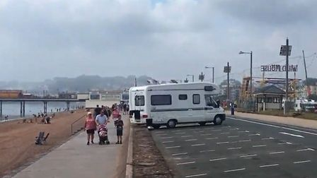 A campervan on Paignton seafront. Photo: Ed Oldfield - LDRS