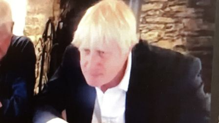 Prime Minister Boris Johnson during the Zoom to Rehan Uddin