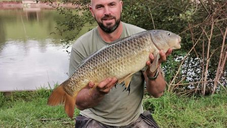 Paul Baker with a carp from Newbarn Farm