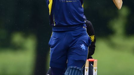 Matt Golding of Devon CC batting during a 50-over friendly match between Devon CC and Cornwall CC at