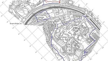 Location of proposed car park for Torbay Hospital